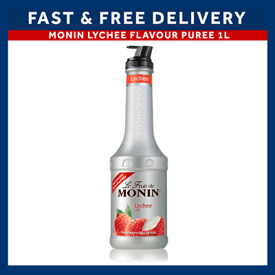 Monin Lychee Puree for Cocktails, Desserts, Smoothies 1L Bottle