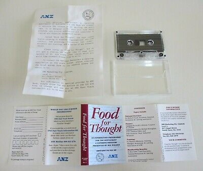 'Food for Thought' - Audio Cassette Tape - Restaurant and Catering Assoc. - 1992