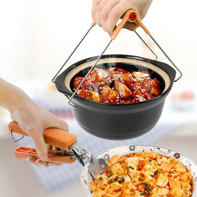 Bowl Clip Set Multi Function Clamp Grip Pan Stainless Steel Plate Set of 2