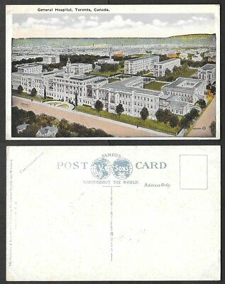 Old Canada Postcard - Toronto, Ontario - General Hospital, Aerial View