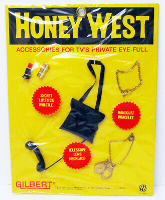 1965 Gilbert Honey West Anne Francis Private Eye Doll Accessory Clothes Lipstick