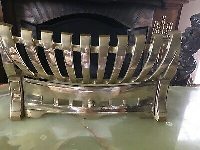 """Vintage Brass Fire Front 8.5"""" X 15.5"""""""