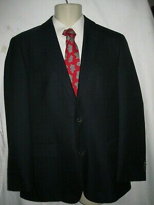 cdcca5176 HUGO BOSS Pasolini Guabello Solid Navy Blue Blazer Suit Jacket 38 RECENT  Model