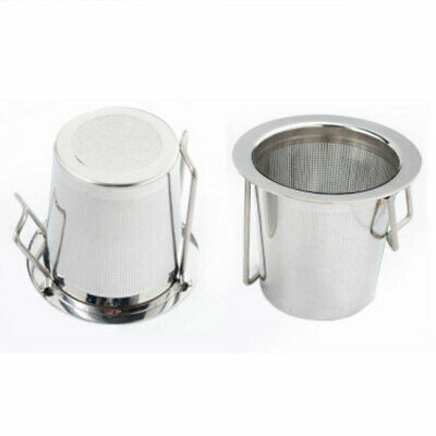 Foldable Reusable Stainless Steel Tea Strainer Handle With Lid Spice Filter