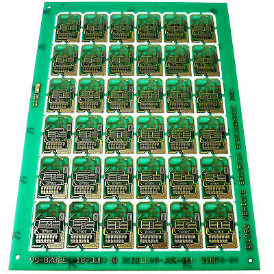 GOLD PLATED VS-8702E CIRCUIT SHEET 36 BOARDS 2-SIDED Art/Jewelry/Scrap Recovery