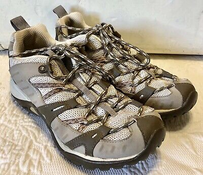 22dacd012a Womens Merrell Size 7 Siren Sport Elephant & Pink Hiking lace up comfort  footbed