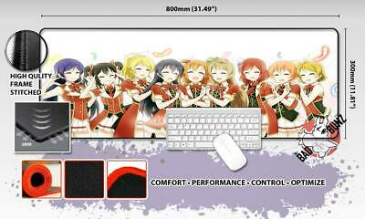 LOVE LIVE Razor Stitch Edged Large Size 80x30cm Mouse Pad Game Mat #34