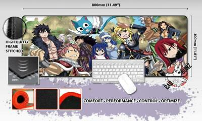 FAIRY TAIL Razor Stitch Edged Large Size 80x30cm Mouse Pad Game Mat #19