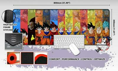 DBZ Razor Stitch Edged Large Size 80cm x 30cm Mouse Pad Game Mat #8