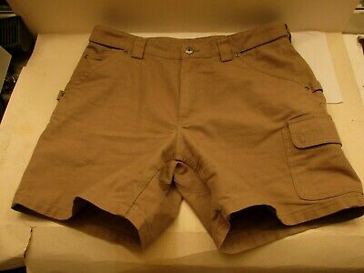 b302792440 DULUTH Trading Fire Hose Brown Cargo Carpenter Shorts Men's Size 38