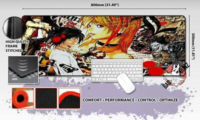 DEATH NOTE Razor Stitch Edged Large Size 80x30cm Mouse Pad Game Mat #96