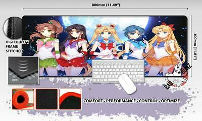 SAILORMOON Razor Stitch Edged Large Size 80x30cm Mouse Pad Game Mat #106
