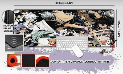 GINTAMA Razor Stitch Edged Large Size 80x30cm Mouse Pad Game Mat #100
