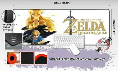 LEGEND OF ZELDA Razor Stitch Edged Large Size 80x30cm Mouse Pad Game Mat #83