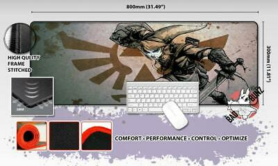 LEGEND OF ZELDA Razor Stitch Edged Large Size 80x30cm Mouse Pad Game Mat #81