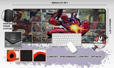 MARVEL DEADPOOL Razor Stitch Edged Large Size 80x30cm Mouse Pad Game Mat #90