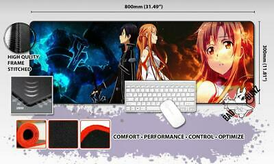 SWORD ART ONLINE Razor Stitch Edged Large Size 80x30cm Mouse Pad Game Mat #73