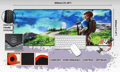 LEGEND OF ZELDA Razor Stitch Edged Large Size 80x30cm Mouse Pad Game Mat #84