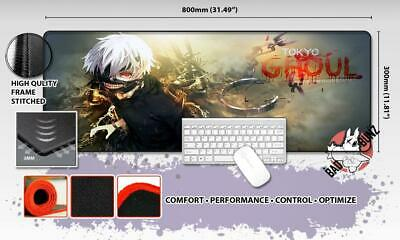 TOKYO GHOUL Razor Stitch Edged Large Size 80x30cm Mouse Pad Game Mat #75