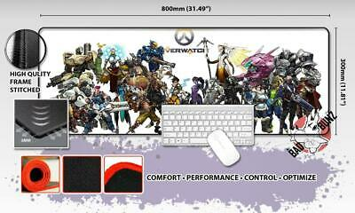 OVERWATCH Razor Stitch Edged Large Size 80x30cm Mouse Pad Game Mat #62