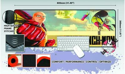 ONE PUNCH MAN Razor Stitch Edged Large Size 80x30cm Mouse Pad Game Mat #60