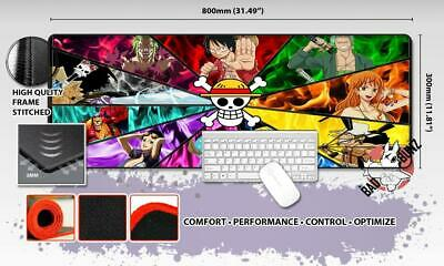ONE PIECE Razor Stitch Edged Large Size 80x30cm Mouse Pad Game Mat #55