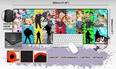 ONE PIECE Razor Stitch Edged Large Size 80x30cm Mouse Pad Game Mat #53