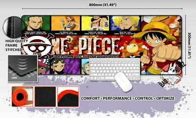 ONE PIECE Razor Stitch Edged Large Size 80x30cm Mouse Pad Game Mat #54