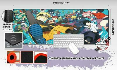NARUTO Razor Stitch Edged Large Size 80x30cm Mouse Pad Game Mat #51