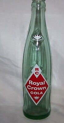RC Royal Crown Cola - Diamond - Glass Beverage Soda Bottle 10 oz