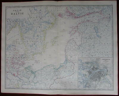 Baltic Basin Prussia Estonia Livonia Courland St. Petersburg plan 1861 large map
