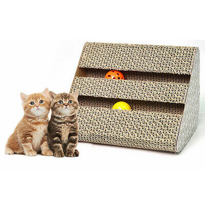 Toy Embedbed Bell Ball Cat Scratch Board Triangle Pet  Claws Beautiful Stickers