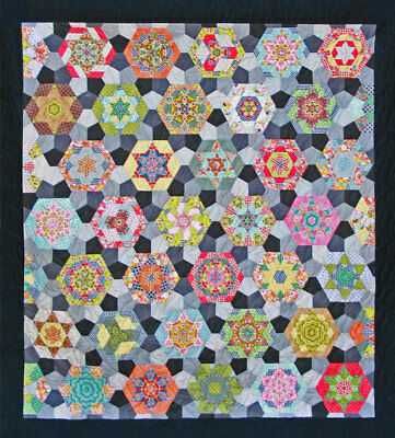 Sue Daley southern aurora  Quilt Kit English Paper Pieces Pattern