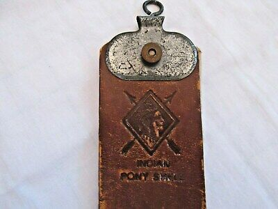 Vintage Lux Rite RS52 Indian Pony Shell Leather Razor Strop