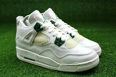 cheaper 88f6f 25758 NIKE AIR JORDAN Retro 4 IV Classic Green Youth Sz 4y Chrome White 308498  101 GS