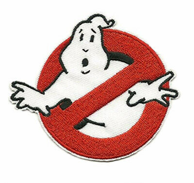 Iron On Applique Patch ADULT GhostBusters style  No Ghost Logo Embroidered New