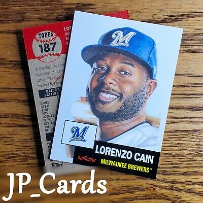 2019 Topps Living Set - #187 Lorenzo Cain - Milwaukee Brewers - Outfielder
