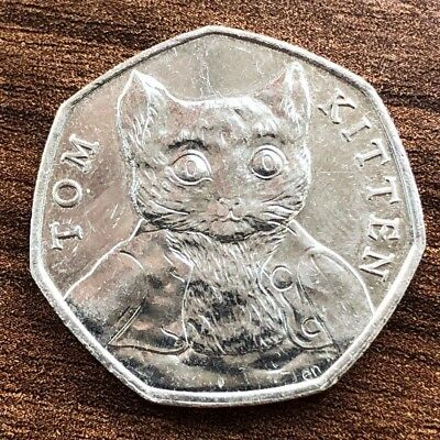 50p - 2017 Tom Kitten - Rare 50p Fifty Pence Coin - Beatrix Potter Collection