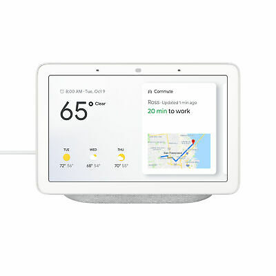 "Google Home Hub 7"" Touch Smart Assistant Speaker WiFi Wireless Bluetooth Chalk"