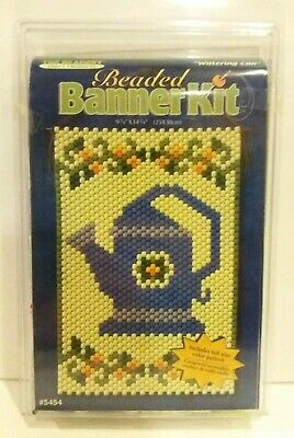 """The Beadery """"Watering Can"""" Beaded Banner Kit 9 3/4 X 14 3/4 #5454 Garden Sealed"""