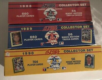 1988 Score Factory Sealed Complete Set 660 Baseball Cards