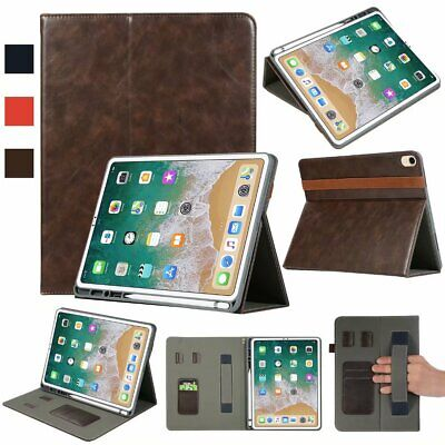 Stand Leather Case with Pencil Holder Smart Cover For iPad Pro 12.9 2015 & 2017