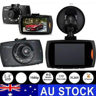 2.4 inch  Vehicle Car DVR Camera Video Recorder Dash G-Sensor Dual Lens HD 1080P