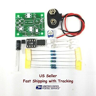 Fading LED Light DIY Kit Breathing Pulsing Effect LM358 -US Seller Fast Shipping