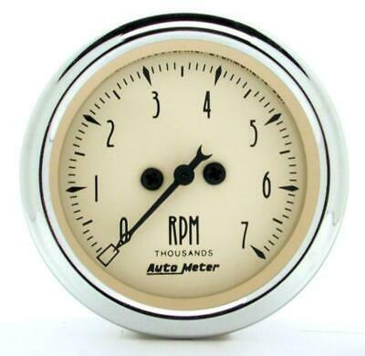 Auto Meter Gauge 2 Tacho 7000rpm Elec Antique Retro AU1897