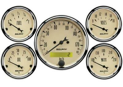 Auto Meter Gauge Antique Retroue Biege 5 Piece Kit W/ P AU1809-M