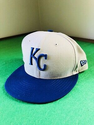 new concept 57267 57fbe New Era Kansas City Royals MLB 59Fifty Fitted Cap Baseball Hat Size 7 3 4