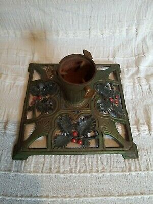 Vintage antique Cast Iron Xmas Tree Stand