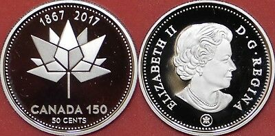 Proof 2017 Canada 150th 50 Cents From Mint's Set