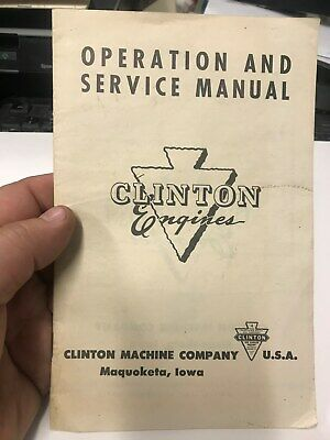 OLD VINTAGE Clinton Gas engines Operation and Service Manual